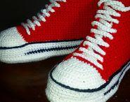 scarpe da tennis all'uncinetto per bambini /adulti