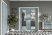Coloured internal doors
