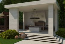 Summer Kitchen and Refectory in Riverside Town, Russia / Architects: Telemak ANANYAN, Ani SIMONYAN, Gohar ISAKHANYAN 3D modeling and visualization: Karen AGHAJANYAN