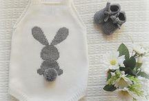 Roupinhas e bordados bébé