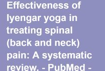 IyengarYogaResearch / This board will keep you updated on the modern scientific research on Iyengar Yoga. There was subjective research by Guruji Iyengar and objective research by modern scientists.