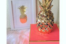 Pineapples & Palm Fronds