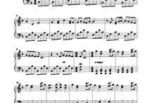 music sheet music / music piano, sax,  - sheetmusic
