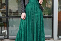 Green Maxi Skirt / Clothing & Styling