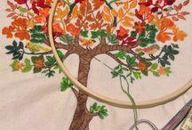 Bordados propios / árbol  de fantasía