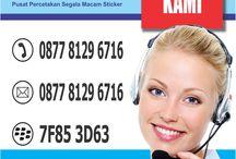 Percetakan Sticker / Pusat Tempat Jasa Percetakan Sticker Vinyl, Cromo, Cutting, transparant Murah Online Jakarta,   Bekasi, Tangerang, Depok, CS: 087781296716.