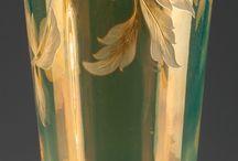 secesní vázy - Harrach