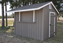 Overhangs on sheds