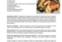 Nos recettes de cuisine / Le Chef Dominique l'Honoré vous invite à réaliser vos propres plats en vous donnant ses idées de recettes, faciles à réaliser
