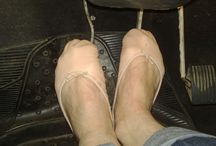 Pedal pumping in very soft ballet slippers / Pedal pumping in soft ballet slippers
