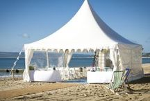 Ceremony Beach Marquee / A small collection of the marquees available here at Beach Weddings Bournemouth.