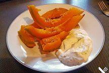 Süßkartoffel und Kürbis