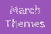 March Themes / THEMES: Dr Seuss – Birthday: March 2nd, Spring is in the air, Easter, World Down Syndrome Day on the 28th and International Children's Book Day on the 2nd .
