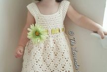 Cotton toddler crochet dress