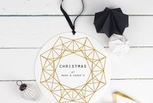 Christmas | Geometric / This minimalist festive trend is perfect for the contemporary home. Full of clean lines, copper tones and geometric shapes, this board will have your home Pinterest perfect in no time.  / by notonthehighstreet.com