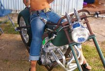 Beautiful Women on Motorcycles / by bikerMetric