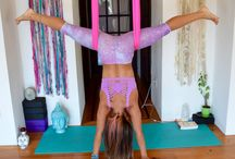 Aerial yoga and hoop
