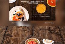 flyers y otras cosas para restaurantes
