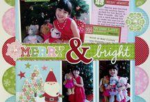 Christmas scrapbook layouts