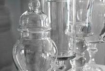 Pretty glass storage jars