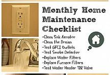 Home Maintenance / Seasonal Check lists to prep for the coming weather