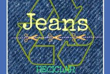 A RECICLAR JEANS!!!! / VEAN QUIENES SE ANIMARON A RECICLAR JEANS CONMIGO...