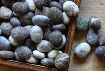 Felt stones