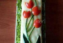 decoração com comida