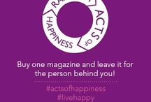 I'm an Happiness Ambassador / MAKE THE WORLD A HAPPIER PLACE! It starts with you and your happiness, ripples into the lives of others, and becomes a wave of positive change around the world. Pledge your voice to the Happiness Movement, share with others, and see how far your happiness can reach!