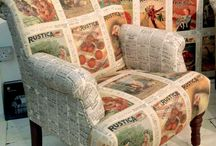 Statement Chairs / upholstery in dynamic fabrics