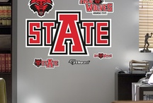 College Basketball + Football l Wall Decals | Graphics + Gifts | Home Decor Wall Decals / College Basketball + Football l Fatheads | Home Decor Wall Decals | University and college team logos and logo collections in removable and reusable Fathead vinyl wall decals. Nothing says team spirit like a college mascot - available as wall decals and stand out cut outs. Add your favorite fan's name to a school logo for a custom wall graphic.  / by Fathead Wall Decals|Custom Decals | Quotes | Wall Murals |  DIY Removable Kids Bedroom Home Decor