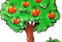 Gyümölcsök, zöldségek, ételek