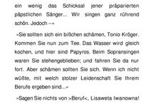 Tonio Kröger Bürger- Künstler Problematik