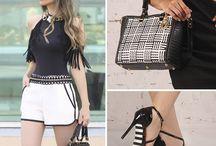 Black and White / O famoso e tradicional preto e branco. Antigamente era tendência, hoje em dia já virou um básico de guarda-roupa.