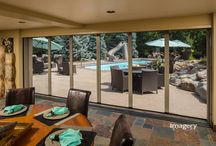 "Disappearing Screens for Wide Vistas / The Sheer Classic Screen is designed to screen large vistas like a patio or porch of up to 40 feet wide and 10 feet high (480""W x 125"" H). It is a retractable screen system which appears when in use and disappears when not in use."