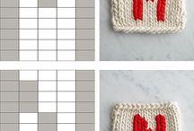 Duplicate stich knitting