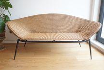 Mid century rattan