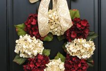 pretty door wreaths / by melinda ray