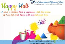 Holi Wishes / If wishes come in rainbow colors then I would send the brightest one to say Happy Holi.