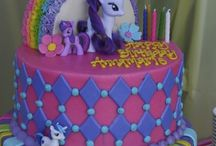 My Little Pony Party Ideas / My Little Pony party ideas for girl birthdays  --  My Little Pony  cakes, decorations, party foods and favors. See more party ideas at CatchMyParty.com.