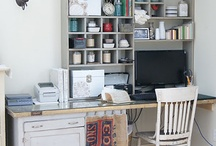 Work Rooms - Storage & Secret Spaces / Keeping things organised especially when space comes at a premium / by Maggie Bergman