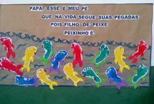 mural de dia dos pais