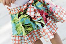 šití sukně / šití sewing skirts