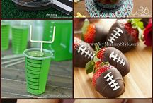 Football Party / Party inspiration for football parties, Superbowl parties and crafts with footballs!