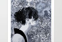 Black and White prints #society6