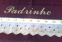 Toalhas & Cia / Lindas toalhas bordadas com fita, ponto cruz, patch aplique...