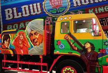 Truck Art / Truck Art, an incredible art form that makes journeys through the dusty highways of India. Explore Now!