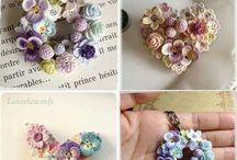 Crochet Flower,brooches, ribbon, etc / Pernik imut crochet
