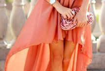 Coral and Orange / Outfits build around shades of coral and orange / by Match Clothes Colors