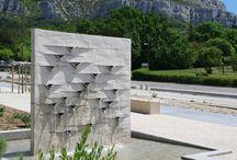Sculptures d'eau de Pierre Luu / Water sculptures created by Pierre Luu